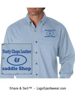 Men's Long Sleeve Denim Shirt Design Zoom