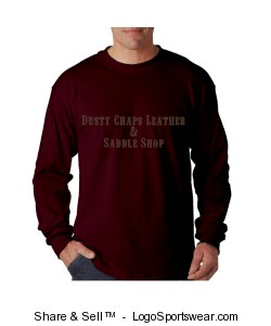 100% Heavyweight Ultra Cotton Long Sleeve Adult T-Shirt Design Zoom